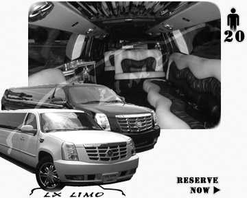 Cadillac Escalade 20 passenger SUV Limousine for rental in Indianapolis, IN