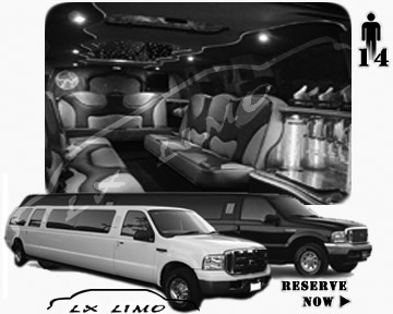 Lincoln Excursion SUV Limo for hire in Indianapolis, IN