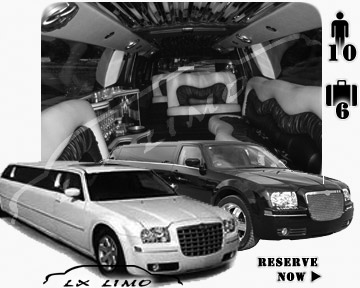 Chrysler 300 Limo in Indianapolis for wedding